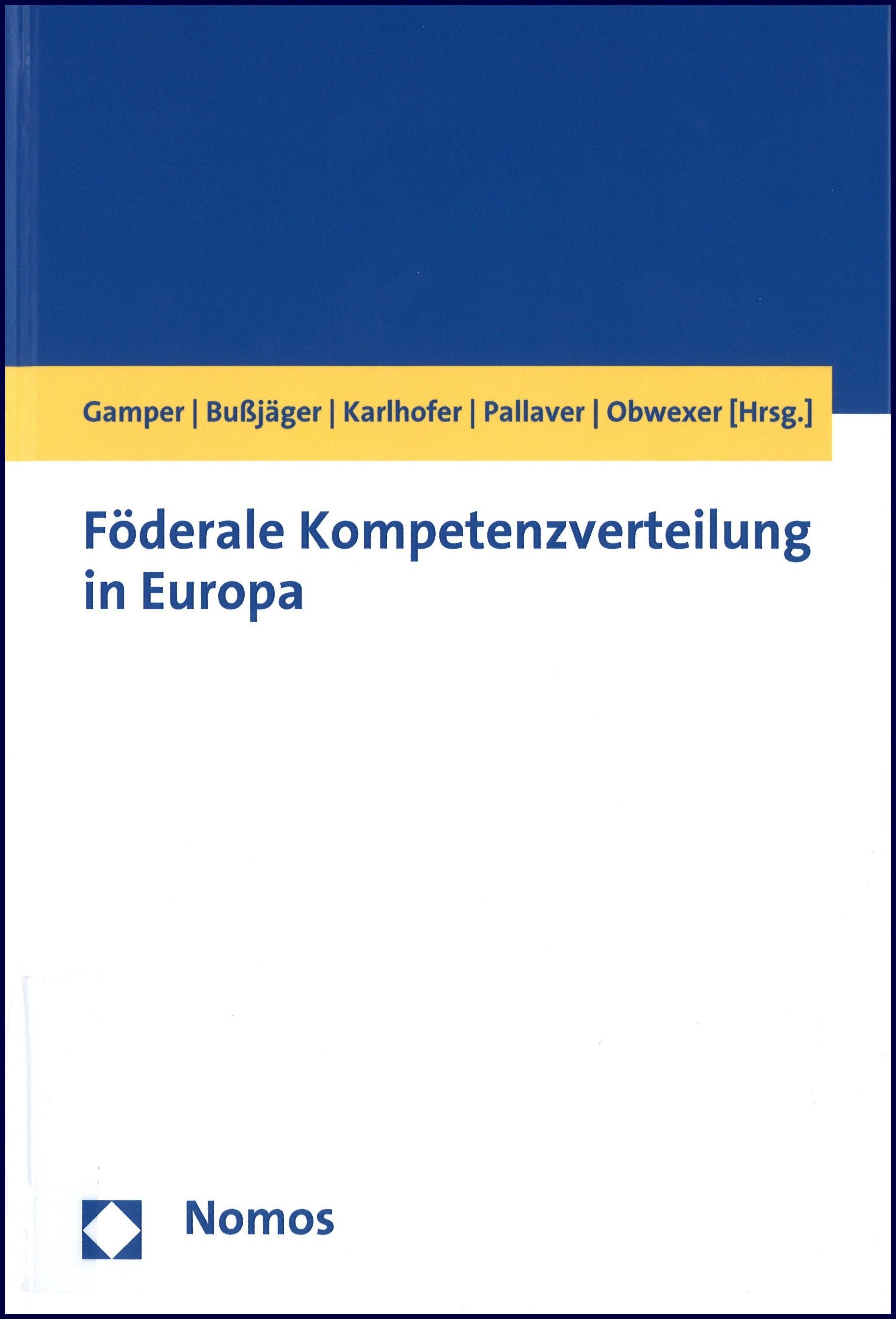 Föderale Kompetenzverteilung in Europa