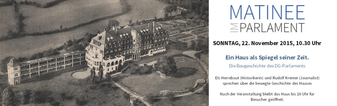 Ein Haus als Spiegel seiner Zeit – Die Baugeschichte des DG-Parlaments