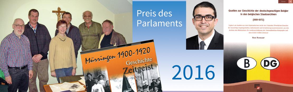 Preise des Parlaments 2016 an René Rohrkamp und die Autorengruppe Mürringen