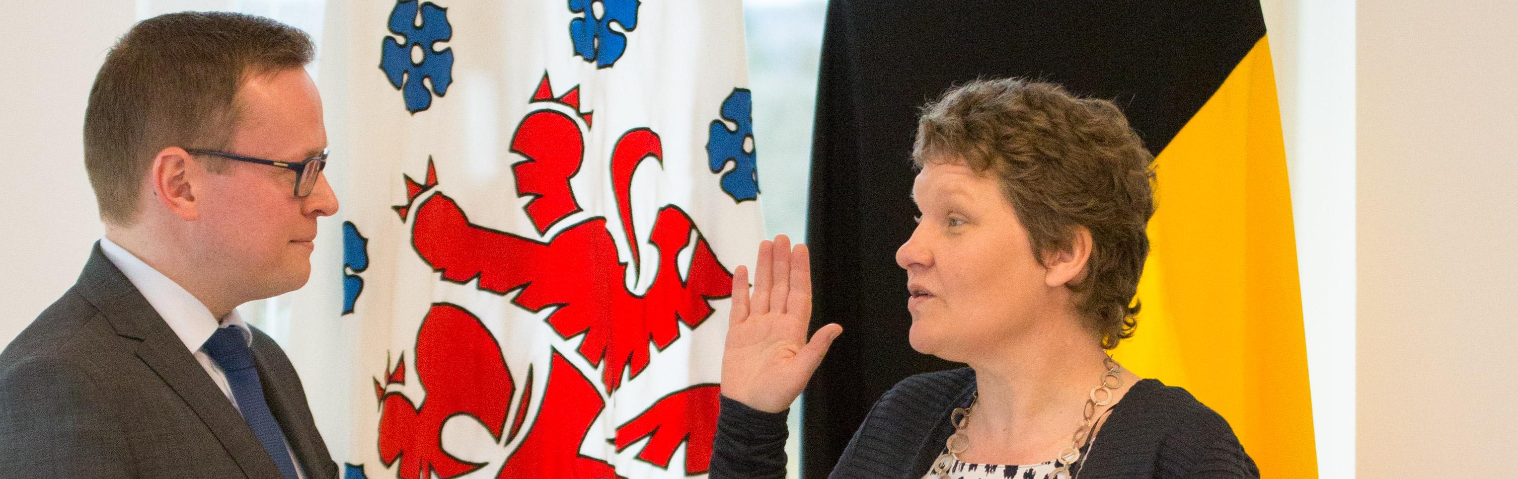 Ombudsfrau im Amt