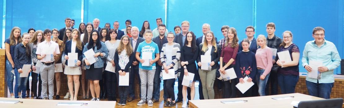 Schüler erhielten Preis für gute Leistungen im Unterrichtsfach Deutsch