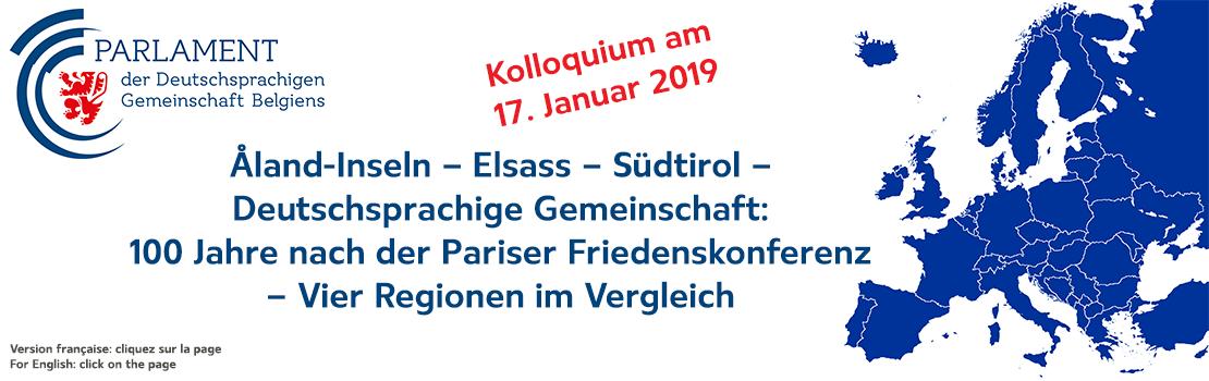 Åland-Inseln – Elsass – Südtirol – Deutschsprachige Gemeinschaft – 100 Jahre nach der Pariser Friedenskonferenz: Vier Regionen im Vergleich