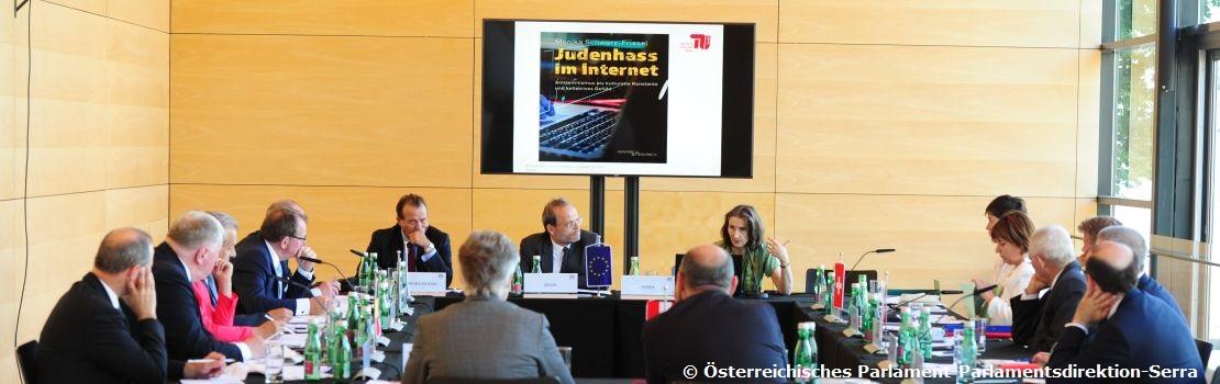 Parlamentspräsidenten der deutschsprachigen Länder trafen sich zum Thema Ansitsemitismus - Belgien durch Karl-Heinz Lambert vertreten