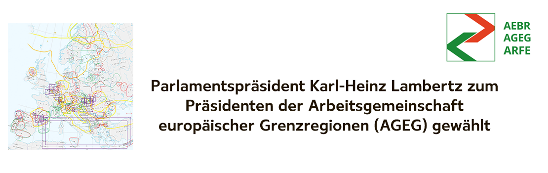 Karl-Heinz Lambertz zum Präsidenten der Arbeitsgemeinschaft europäischer Grenzregionen (AGEG) gewählt.