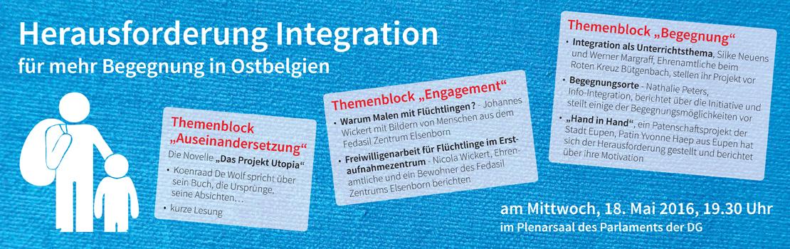 Herausforderung Integration - Für mehr Begegnung in Ostbelgien