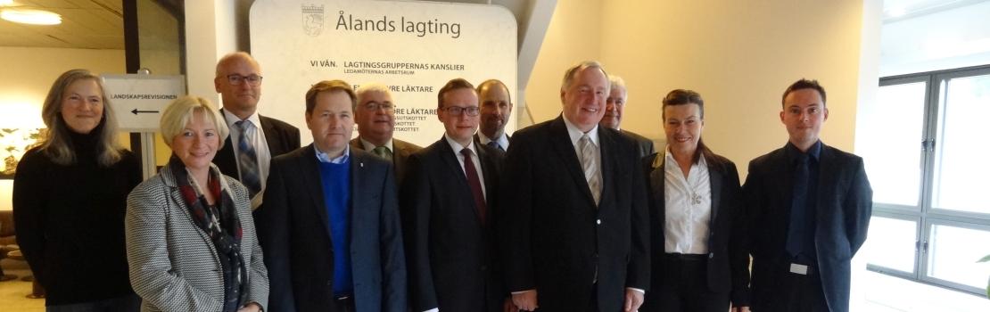 Delegation des DG-Parlaments informiert sich über Autonomie der finnischen Åland Inseln