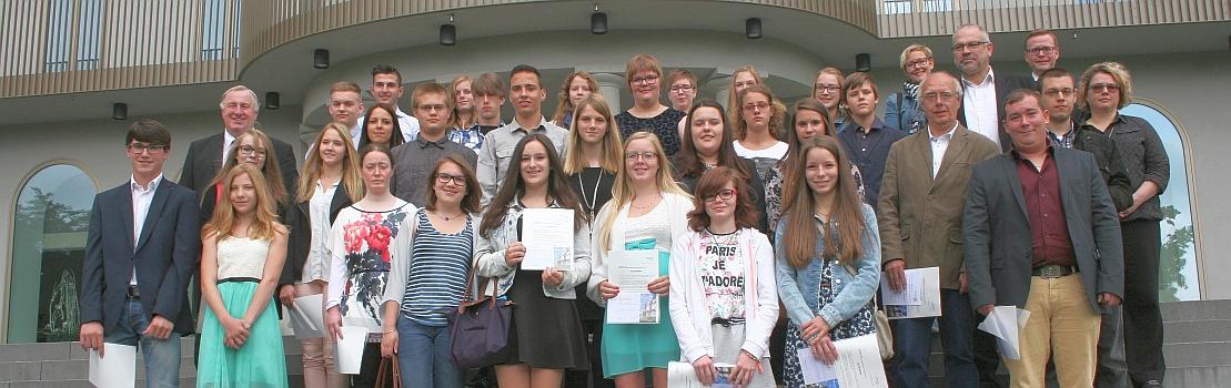 Parlament zeichnet 122 Schüler der DG mit dem Preis des Parlaments 2015 aus